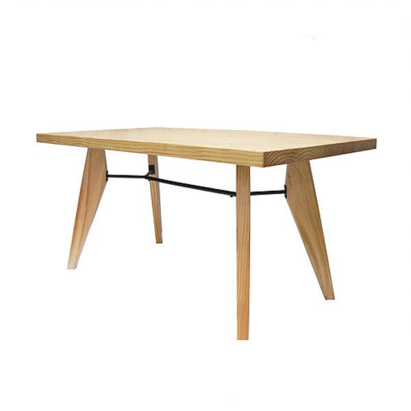 紐松實木桌 Y桿八字實木腳