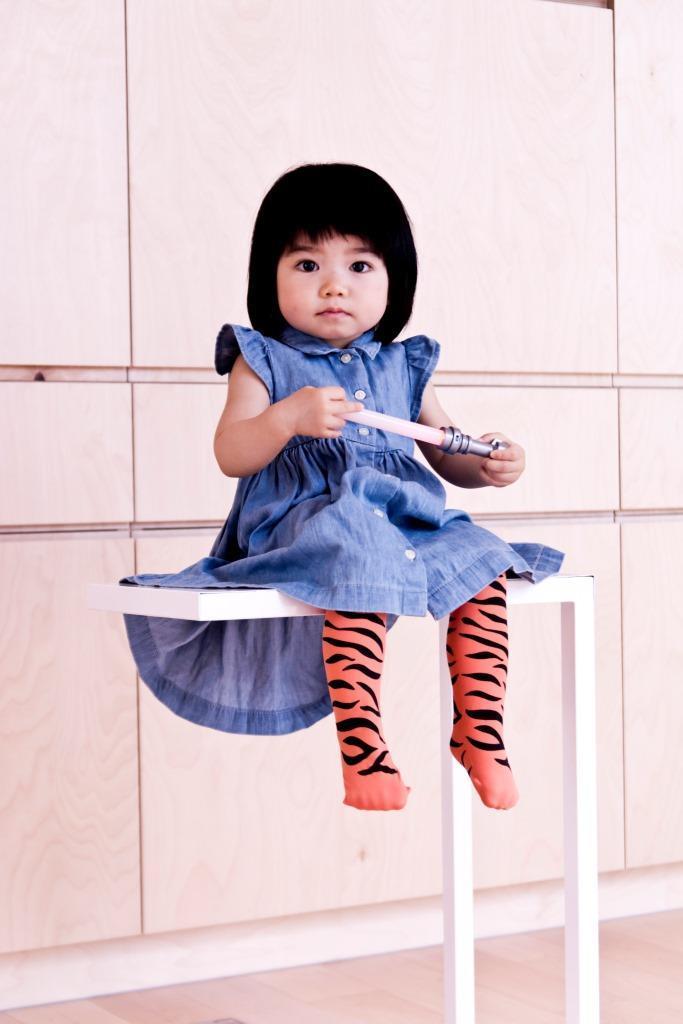 公主童襪橘子斑馬