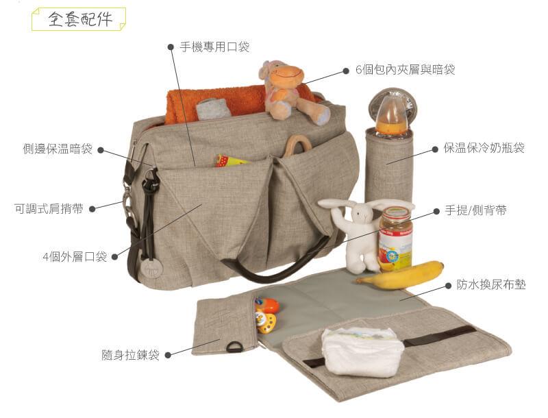 德國媽媽包No.1品牌,LASSIG讓媽媽包不只是媽媽包,兼具時尚與功能性,手提肩背斜背多種背法,大開口大容量多隔層,使用環保防潑水材質,外出育兒神隊友,網紅媽咪推薦