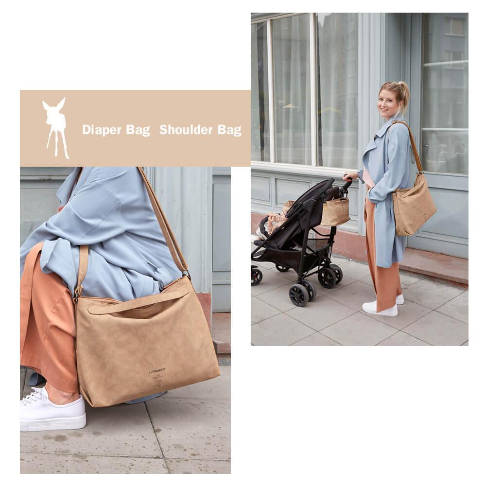 德國媽媽包No.1品牌,LASSIG讓媽媽包不只是媽媽包,兼具時尚與功能性,皮革質感簡約設計,多種背法大開口大容量多隔層,外出育兒神隊友,網紅媽咪推薦
