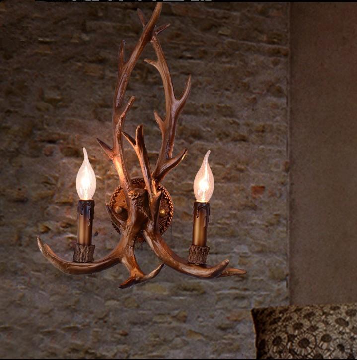 復古鹿角造型壁燈
