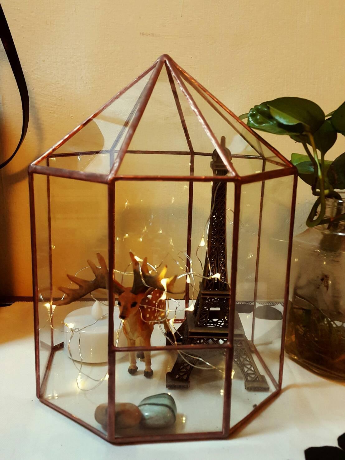 玻璃花房永生花裝飾